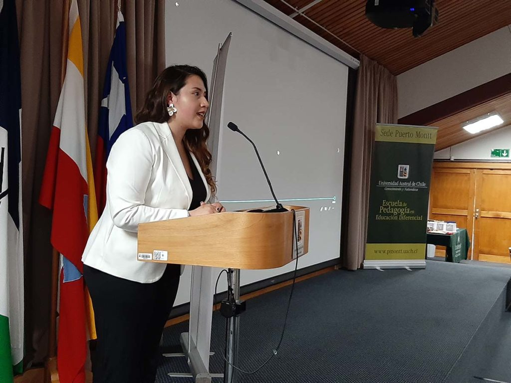 Daniela Ojeda, directora del proyecto y estudiante de Pedagogía en Educación Diferencial UACh.
